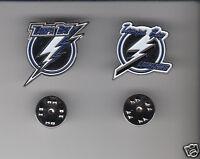 TAMPA BAY LIGHTNING Lot of 2 Different METAL LAPEL PINS NHL Hockey Team Logo Pin