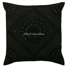 Traditional Throw Pillow Cover 60x60 cm Cotton 24x24 Embroidered Cushion Cover