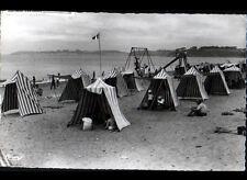 SAINT-PAIR-sur-MER (50) JEUX & TENTES de PLAGE trés animés en 1956