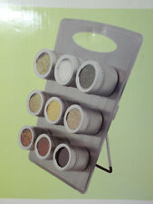Spice Rack Easel w/ 9 Magnetic Storage Jars for Spices Stainless Steel