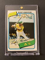 RICKEY HENDERSON 1980 TOPPS ROOKIE RC #482 - *Excellent Condition* 📈🔥 INVEST!