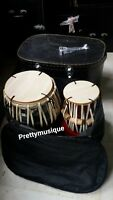 TABLA  STEEL PLATING WITH GIG BAG+  RING STAND + CASE BOX +TUNER + FREE SHIPPING