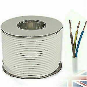 Quality 3 Core Round white Flex cable 0.75mm Flexible Extension Wiring 50M