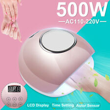 500W Nail Dryer Nail Light UV LED Gel Smart LED Quick-Drying Induction Nail  3