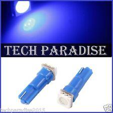 6x Ampoule T5 W1.2W W2X4.6D ( pour B8.5D ) LED SMD Bleu Blue Neo Wedge