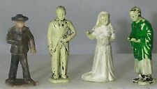 Four Vintage Figures For Your American Flyer Layout 2 Preachers, Bride & Groom