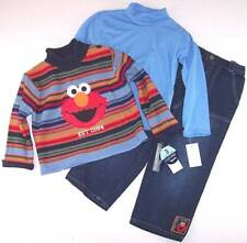 NWT Sesame Street by Nannette Boy's 3 Pc. Elmo Sweater Outfit Set, 3T, $46
