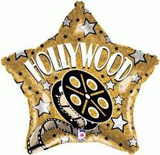 "19"" STAR SHAPE FOIL BALLOON ""HOLLYWOOD STARS"" HOLLYWOOD AWARDS OSCARS PARTY"