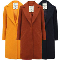 Tokyo Laundry Women's Vintage Style Coat Long Lapels Boucle Overcoat 1940s 1920s