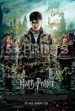 HARRY POTTER POSTER PHOTO SIGNED PP x15 DEATHLY HALLOWS FINALE 12x8 PERFECT GIFT