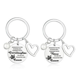Whenever You Feel Overwhelmed Gifts Daughter Niece Granddaughter Keychain Pearl
