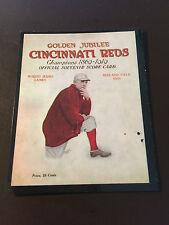 Cincinnati Reds vs Chicago White Sox 1919 World Series program baseball card