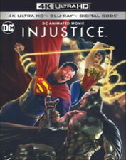 Injustice 4K ULTRA HD/BLU-RAY/DIGITAL with SLIPCOVER New