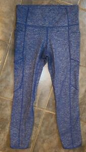 Athleta Women's Size Small Blue Cropped Leggings