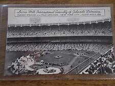 Vtg 1958 Postcard JEHOVAHS WITNESSES Convention New York Yankee Baseball Stadium