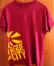 PLAGUE THE CITY small T shirt pop punk Fremont OHIO tee indie-rock distressed OG