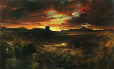 Art no framed Oil painting Thomas Moran - Childe Roland to the Dark Tower Came