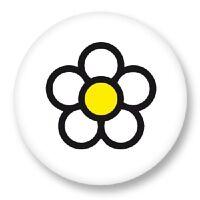 """Pin Button Badge Ø25mm 1"""" Marguerite Fleur Flower Flore Flora Botanique"""