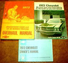 1971-72  CHEVROLET PASSENGER CAR FACTORY ASSEMBLY MANUAL