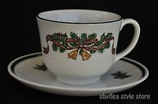 Johnson Brothers Victorian Christmas Teacup Saucer Staffordshire Made in England