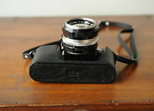 Zhou Black Leather Half Case for Nikon F SLR Camera