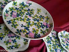 Vintage THE MAGIC FOUR LEAVED LEAF CLOVER TRAYS LUTHER TRAVIS AMERICAN CAN CO