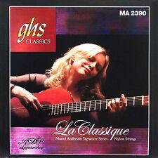 2 jeux CORDES GHS NYLON guitare CLASSIQUE MA2390 Muriel Anderson Classic Strings