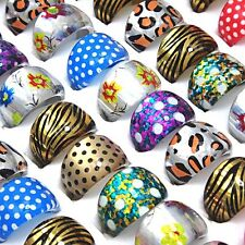 Wholesale Jewerly Lots 50pcs Children Leopard Resin Rings mixed Freeshipping
