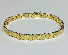 14kt Solid Yellow Gold Men's Nugget Bracelet 6.5 mm 16 grams 8.5