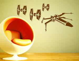 Star Wars Tie Fighter X-Wing Starfighter Decorative Vinyl Wall Sticker Decal