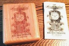 HAMILTON Watch box, wood-For 16 size or 18 size Rail Road Pocket watches