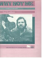 FRED KNOBLOCK-WHY NOT ME-SHEET MUSIC-1980-EXTREMELY RARE-PIANO/VOCAL/CHORDS-NEW