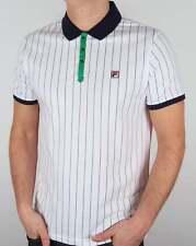 Fila Vintage Mk1 Settanta Polo Shirt in White, Navy & Green - BB1 Borg tennis