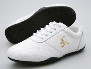 Leather Martial Arts Shoes Tai Chi Kung Fu Sneakers Unisex Sport Taolu Footwear
