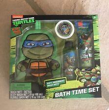 Teenage Mutant Ninja Turtles 4 Piece Bath Time Set TMNT New