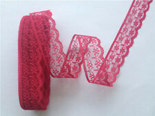 Beautiful 10-yard Red wine  lace ribbons DIY clothing accessories decoration
