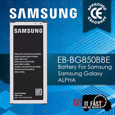 100% NEW REPLACEMENT SAMSUNG GALAXY ALPHA BATTERY 1860MAH EB-BG850BBE MFG 2017