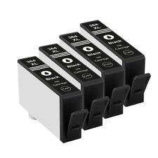 4 Black Ink Cartridges For HP 364XL Photosmart 5510 5515 5520 6510 7510 7520