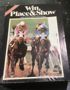 WIN, PLACE & SHOW - Avalon Hill Board Game, Thoroughbred Horse Racing, 1977