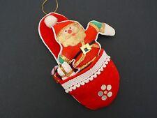 De Colección Santa Claus Papá Noel ruso Hecho a Mano Paño Ornamento de árbol de Navidad