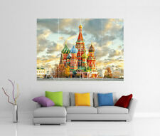 MOSCOW SAINT BASIL CATHEDRAL RED SQUARE GIANT WALL ART PRINT POSTER