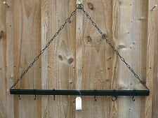 Wrought Iron Saucepan Hanging Ceiling Rack Suspension for Pots and Pans