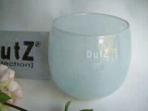 Dutz Collection Vase Pot Pale Blue D= 13 cm Glas rund Kerzen glasvase hell blau