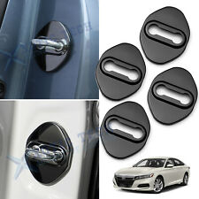 4pcs Black Door Lock Antirust Protection Cover Trims For Honda Accord 2018-2020