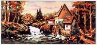 Gobelin L  Printed Tapestry Canvas - The Water Mill