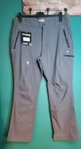 Mens Craghoppers Kiwi Stretch Pro Active Trousers  Size 36S - Granite Grey