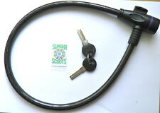 SCOOTER/BIYCLE/ HELMET LOCK. 70cms  ARMOURED CABLE WITH 2 KEYS