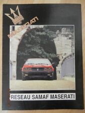Catalogue MASERATI BITURBO ES V6 2,5L reseau SAMAF 1987