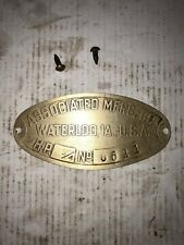Associated 3/4hp Pony Hit Miss Stationary Engine Tag 6641