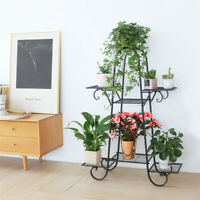 5 TIER Metal Shelf Flower 7 Pot Plant Stand Display Indoor Outdoor Garden Patio